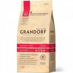 Grandorf Indoor Lamb&Rice д/кош домашних Ягненок/Рис 2кг