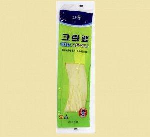 Перчатки из натурального латекса для работы с продуктами бежевые размер M, 1 пара