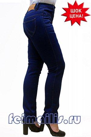 Слегка приуженные синие джинсы SS5382 рр 9(44)