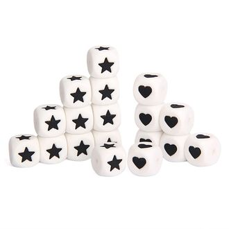 ★Мир бусинок! ★ Прорезыватели для первых зубок малыша! — Кубики с буквами: силикон — Бисер и бусины