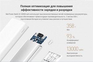 Внешний Аккумулятор Xiaomi Power Bank 2C 20000 mAh