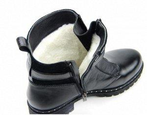 Ботинки кожа/замша черный демисезон