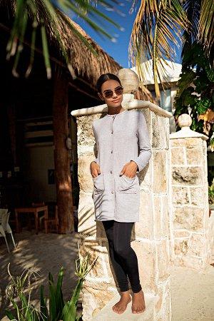 Куртка Пальто на кнопках и накладными карманами. Ткань: Футер с/н. Цвет - Меланж.