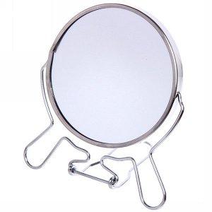 """Зеркало настольное в металлической оправе """"Модерн"""" круглое двухстороннее d9,5см"""