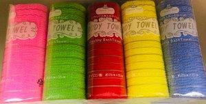 Shower Towel Мочалка полотенце Радуга Body Healthy Bath towel, 1шт