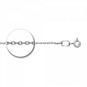 Серебряная цепь 40 см. Якорь 1 мм