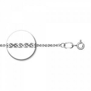 Серебряная цепь 45 см. Нонна 3 мм