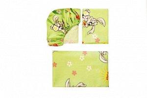 Детское постельное бельё (пододеяльник, простыня на резинке, наволочка) 112*147