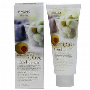 3W CLINIC Крем для рук Moisrurzing Hand Cream [Olive], 100 мл