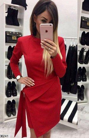 Платье Цвет: красныйТкань: трикотажСезон: демисезонное