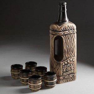Коньячный набор 5 ЗВЕЗД (керамика) (ручная работа) АВН-5119