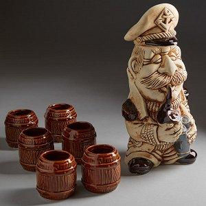 Винный набор КАПИТАН (керамика) (ручная работа) КЛС-14182