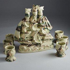 Штоф 27 см ФОРТУНА ЗЕЛЕНЫЙ (керамика) (ручная работа) САМ-6593