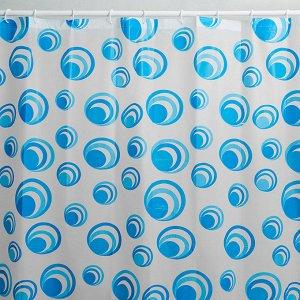 """Штора для ванной 180х180см с кольцами RL-0071 """"Мыльные пузыри"""""""