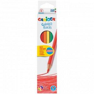 Карандаши цветные Carioca 06цв., заточен., картон, европодвес