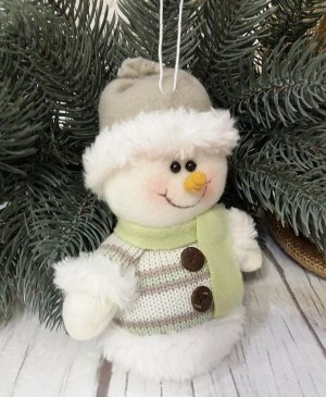 Снеговик Остатки зеленой коллекции, этого дизайна больше не будет!    32204 Снеговик подвесной. Размер около 15 см. Цена за одну игрушку. Снеговик самый миленький :)