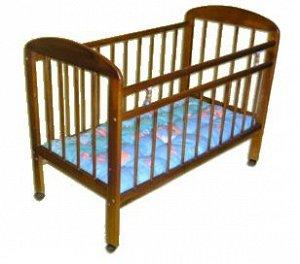 """Кроватка детская """"Мишутка 7"""" колесо светлая 73372"""