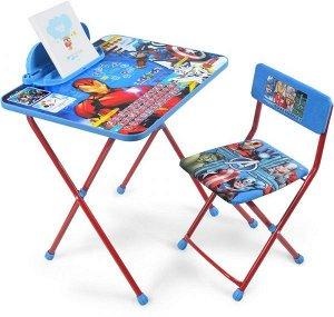 """К-т детской мебели """"Мстители"""" (Д4А, 3-7 лет,мал.,мягкое велюр, красный/синий)"""