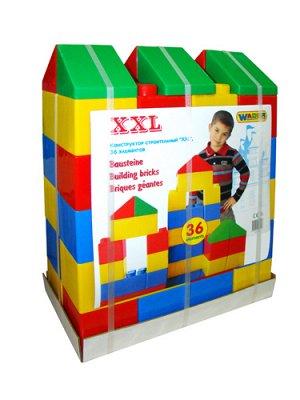 Конструктор строительный XXL, 36 элементов 37527  (1/1)