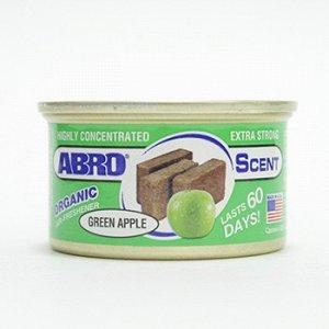 "Ароматизатор на торпеду ""Abro"" Органик, Зеленое яблоко, с растит. наполнителем, баночка 42 гр."