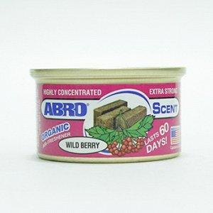 """Ароматизатор на торпеду """"Abro"""" Органик, Лесные ягоды, с растит. наполнителем, баночка 42 гр."""