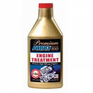 """Присадка в масло """"ABRO"""" Премиум восстановитель двиг., бут. 444 мл."""