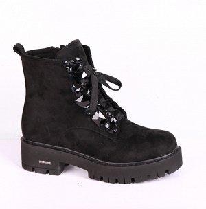 19009-05-1А черный (Т/Иск.мех) Ботинки женские