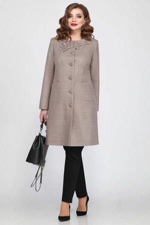 Пальто Пальто Matini 2.867 беж  Состав ткани: ПЭ-9%; Шерсть-28%; ПАН-63%;  Рост: 164 см.  Длина изделия в 52-56 по спинке 94 см, по плечевому шву 102 см, длина рукава 61 см.  Пальто на подкладке.