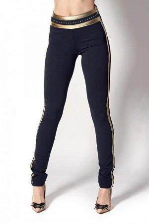 Утепленные брюки-лосины с полоской