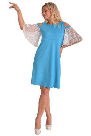 Платье П 515/2 (голубой)