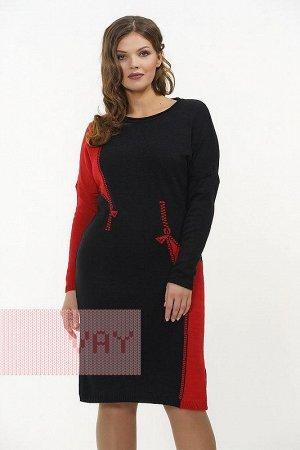 Платье женское. Цвет: 120/0703 черный/красный