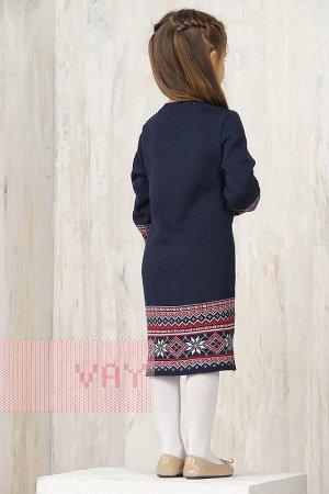 Платье для девочек. Цвет: 0189/01/91 т.синий/белый/кармин