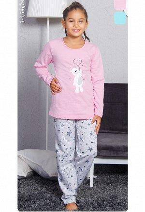 Пижама Vienetta Girl 8032382919 Байка  Розовый *