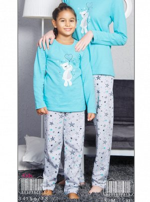 Пижама Vienetta Girl 8032382919 Байка Мятный *