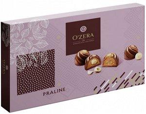 Конфеты фасованные «O`Zera» с дробленым и цельным фундуком. 190г