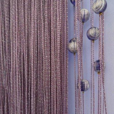 Нитяные шторы - Кисея! Огромный выбор, оптовая цена — Кисея Люрекс с шарами плотная — Шторы