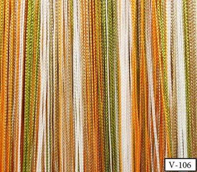 Нитяные шторы - Кисея! Огромный выбор, оптовая цена — Кисея радуга плотная — Шторы