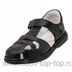Туфли (сандалии) черный+синий