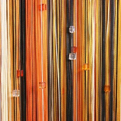 Нитяные шторы - Кисея! Огромный выбор, оптовая цена — Кисея радуга с кубиками плотная — Шторы, тюль и жалюзи