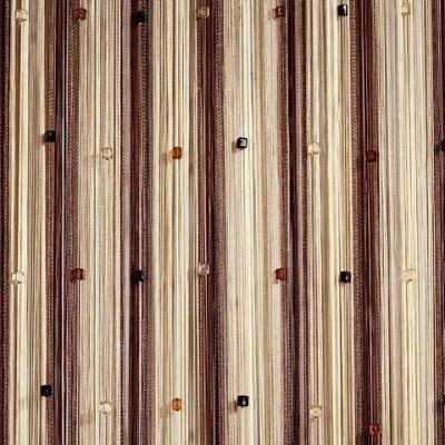 Нитяные шторы - Кисея! Огромный выбор, оптовая цена — Кисея радуга с кубиками облегченная — Шторы