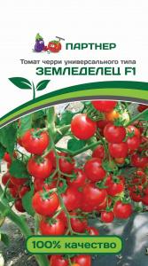 ТМ Партнер Томат Земледелец F1 ( 2-ной пак.)/ Гибриды томата черри для открытого грунта