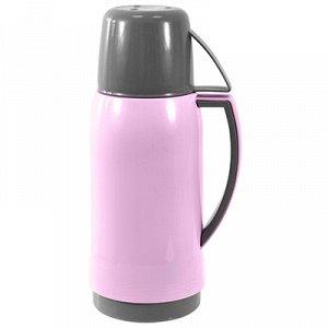 """Термос пластмассовый корпус, узкое горло """"Доброе утро"""" h25,5см, прорезиненная ручкой, стеклянная колба 0,5л (Китай)"""