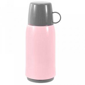 """Термос пластмассовый корпус, узкое горло """"Чайная роза"""" h25см, стеклянная колба 0,5л (Китай)"""