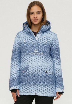 Женская зимняя горнолыжная куртка синего цвета