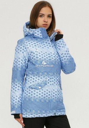 Женская зимняя горнолыжная куртка голубого цвета