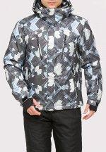 Мужская зимняя горнолыжная куртка серого цвета