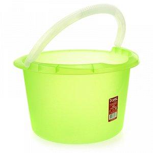 Ведро пластмассовое 7л, д29см h18см, мерное, зеленый (Россия)