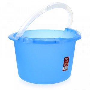 Ведро пластмассовое 7л, д29см h18см, мерное, синий (Россия)