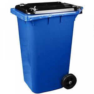 """Бак-контейнер для мусора пластмассовый """"Универсальный"""" 240л, 76х55,5х106см, на колесах, откидная крышка (Россия)"""