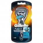 Gillette станок Flexball Fusion Proshield синий с 1 кассетой на подставке